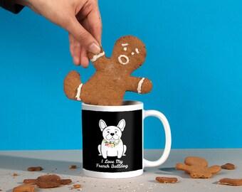 Flower Collar French Bulldog Mug - Frenchie Mom | Frenchie Dad | Frenchie Gift | Frenchie Lover
