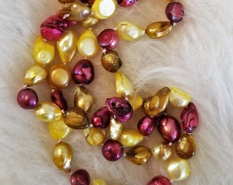 large Baroque Multi Colored Pearls