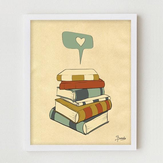 Reading Print Art I READ Digital Illustration