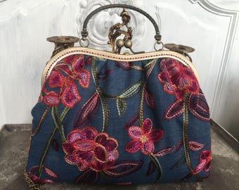 Bag, vintage, retro, Boho, bohemian, bags, Vintagetasche, jeans