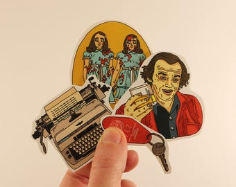 the shining stickers laptop labels tags kubrick stephen king illustration