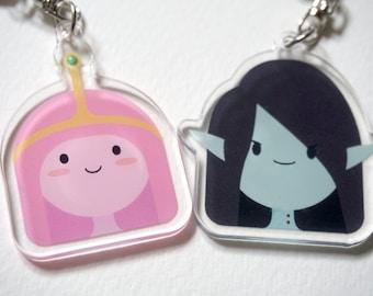 Adventure Time Marceline & Princess Bubblegum charms