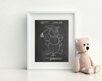 Stuffed Animal Poster, Stuffed Animal Patent, Stuffed Animal Print, Stuffed Animal Art, Stuffed Animal Decor Stuffed Animal Wall Art, PP1070