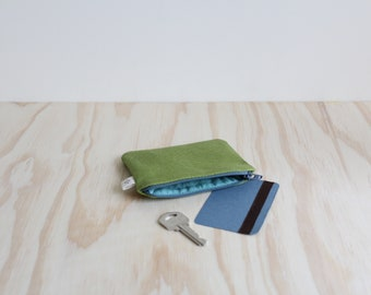 Slim coin purse Green and Blue