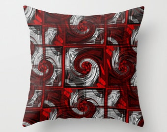 Abstract Pillow Cover Red Black Grey White Modern Home Decor Living room bedroom accessories Cushion Decorative Pillow Cover Euro Sham Cover