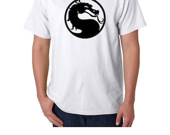 Retro Mortal Kombat Dragon Multicolors T shirt S M L XL 2XL