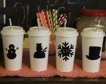 24 Snowman Winter onederland Wonderland Snowflake Chalkboard Labels for Hot cocoa chocolate bar Christmas party idea