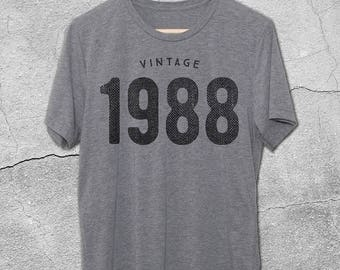 30th Birthday for Him & Her - Vintage 1988 T-Shirt - 30th Birthday Shirt- Gift Ideas- Vintage 1988 tshirt - 30th birthday gifts Graphic Tee