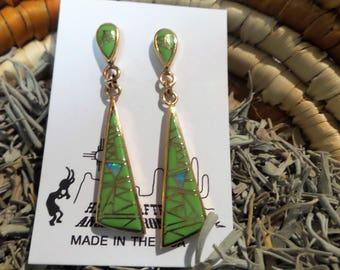 Bronze Gaspiete Native American Southwest Earrings