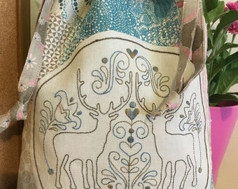 So Deer Sewing Bag - Boro and Stitchery Kit