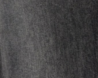 Charcoal Gray brushed light weight sweater knit fabric
