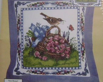 Spring Robin Pillow/Picture Counted Cross Stitch Kit