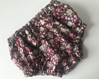 wine floral bloomers