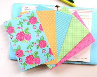 Floral  Planner Dividers/A5 dividers /Personal dividers /Planner divider set /Filofax dividers /