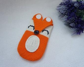 Fox phone case crochet pattern