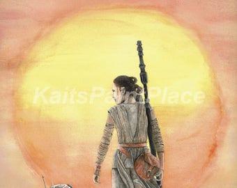 Force Awakens Watercolor Print