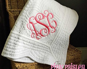 Personalized Baby Blanket | Monogrammed Baby Quilt | Boy and Girl Baby Blanket | Baby Shower Gift | Keepsake Gift