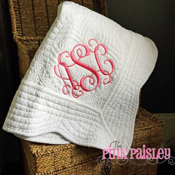 Personalized Baby Blanket Monogrammed Baby Quilt Boy And