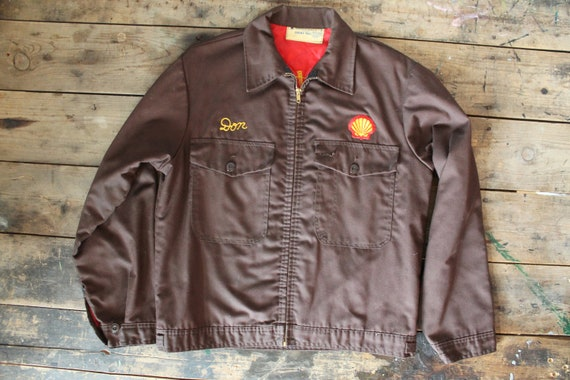 Rare Size 60's Medium Made Embroidered Vintage Union Stitch Mechanics in Talon Zipper Jacket Made USA INSULATED Chain rqwrWgU84