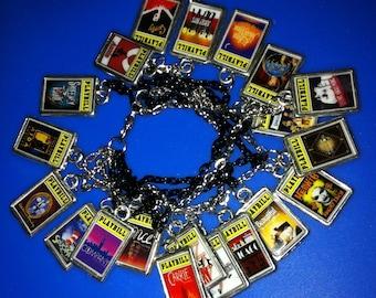 Theater / Drama Show Charm - Playbill  - Broadway Charm Bracelet YOUR CHOICE (10 Charms)