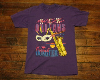 1990 New Orleans mardi gras purple tshirt small