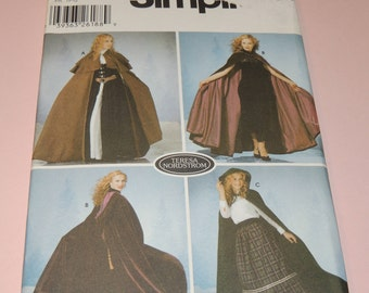 Uncut XS to L Simplicity 5794 CLOAK Pattern