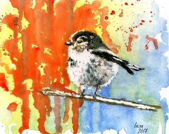 Bird 3 - watercolour fine art print