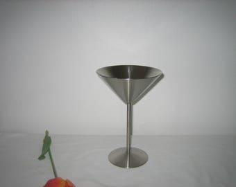 Vintage Silver Plate Martini Glass -  Martini Glass 7 Inches - Vintage Stemware - Silvertone Stemware