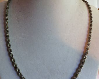 """25"""" Vintage Silver Tone Chain with Round Clasp, silver tone, link, silver chain, vintage, necklace, chain, round clasp"""
