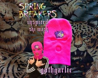 SPRING BREAKERS Inspired Hot Pink Ski Mask