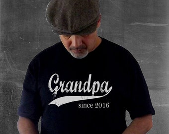 Grandpa since ANY year screen print tee, custom mens t shirt, gift ideas for men, father's day gift, personalized t-shirt