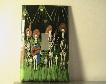 Day of Dead Skeleton Band Single Switchplate Cover - Free Shipping - 1002DD