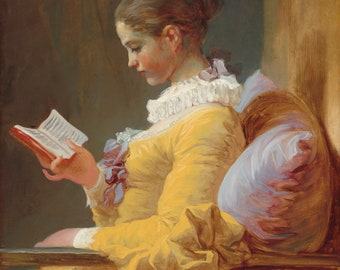 NEW!  Fragonard's The Reader Print Reduxed to Canvas Ready to Hang Museum Quality