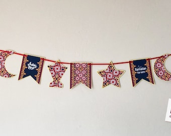 """Ramadan Banner with Egyptian tent pattern, 11 units, Total length: 66"""""""