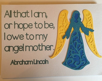 Mother's Day card - Abraham Lincoln quote