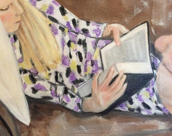 """Original Oil Painting  """"Reading Nook""""     20x24.        ***Free Shipping!***"""