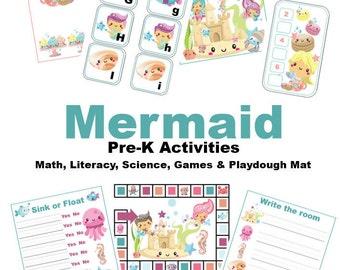 Mermaid Pre-K Activities