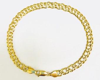 9ct Gold Curb Double Link Bracelet
