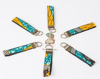 Ankara fabric key fob wristlets
