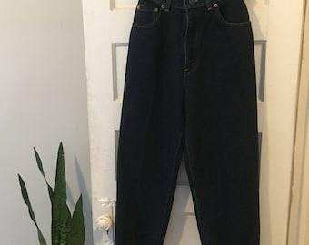 Vintage Levi's 501 Tapered Denim Jeans / Extra High-Rise, Size 24 / Dark Wash Denim / VTG Denim Jeans / Vintage Denim