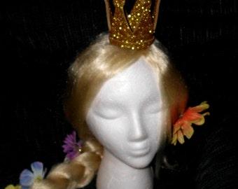 Crown, Double Glitter,  Queen of Hearts, Mini, Tiny, Sparkle, Princess, Headband, Burlesque, Princess Peach, Child, Adult, Kid
