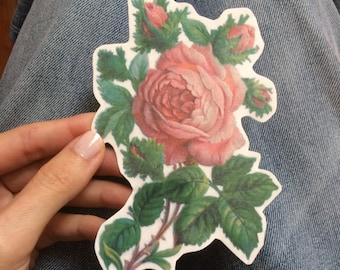 Rose Temporary Tattoo. Big Floral Tattoo, available in small, medium and large size