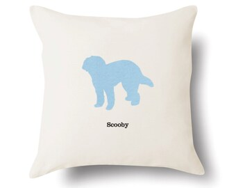 Labradoodle Pillow -  Labradoodle Gift - Dog Lover Present - 4 Color Choices
