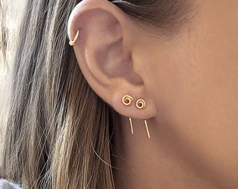 Gold tiny earrings, gold filled earrings, tiny earrings, gold studs, minimalist earrings gold, mother daughter gift, minimalist jewelry