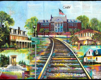 Welcome to Cary ll - Gicleé Paper Print