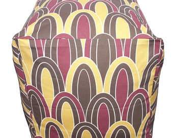 Organic Square Pouf Floor Pillow - Arches