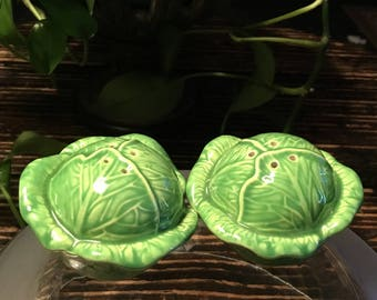Vintage Cabbage Salt And Pepper Shakers