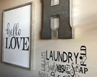Laundry Room Words