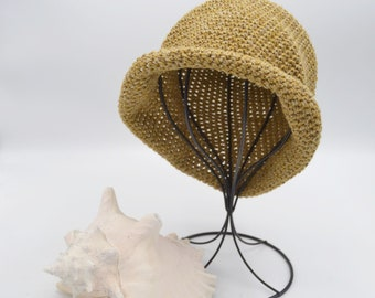 Kid Sun Hats, Organic Cotton beach Hat, Travel Hats for Kids, Boater Hat, Cloche Hat, Summer Hat, Baby Shower Gifts, Fits Baby 2 Small Adult