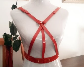 Leather Body harness Simple